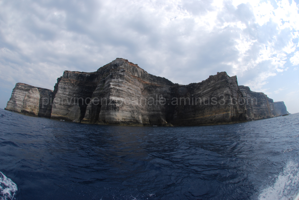 A view of Lampedusa from the sea