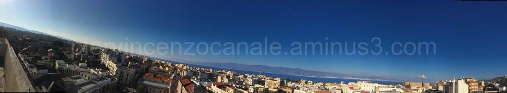A wide angle view of Reggio Calabria.