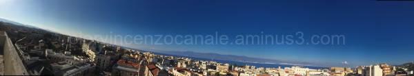 A wide angle view of Reggio Calabria.