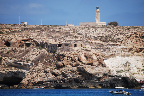 A view of Lampedusa.