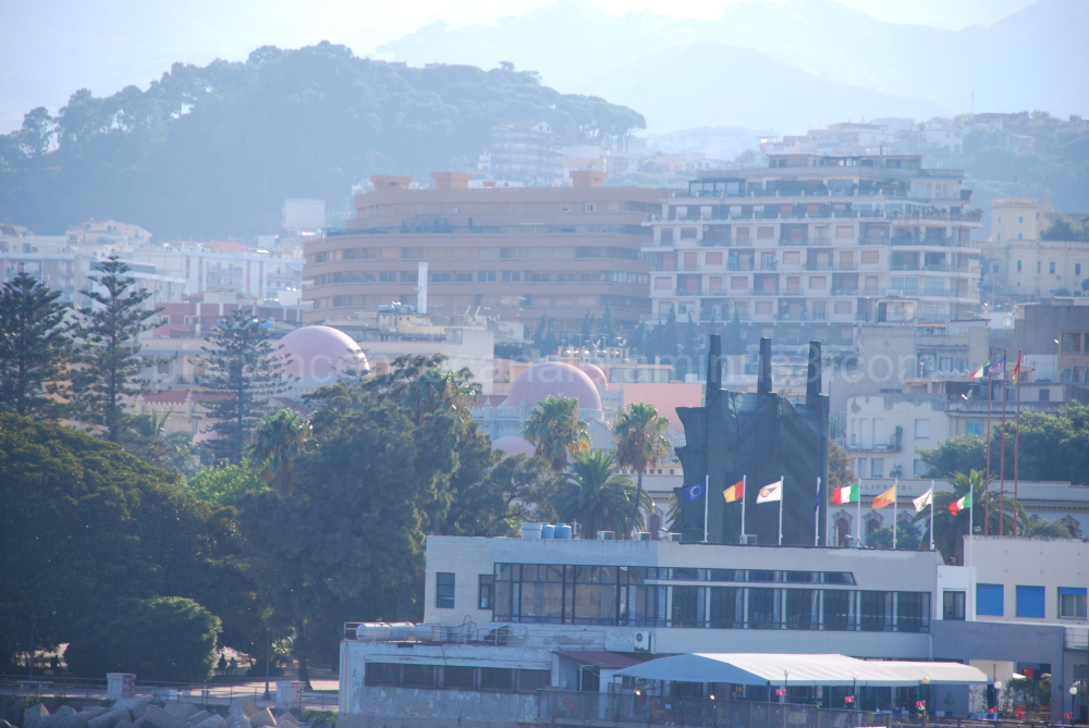 View of Messina city, Italy.