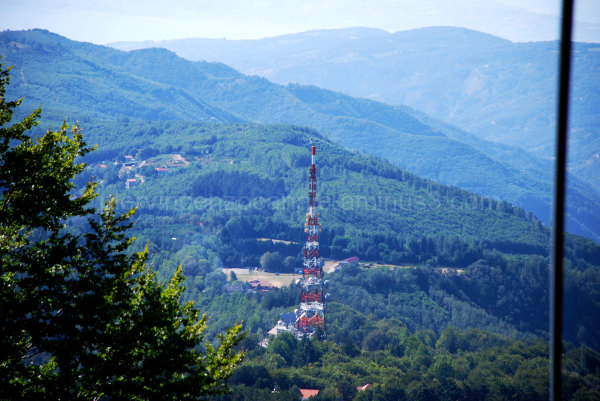A telecommunication tower in Aspromonte, Italy.