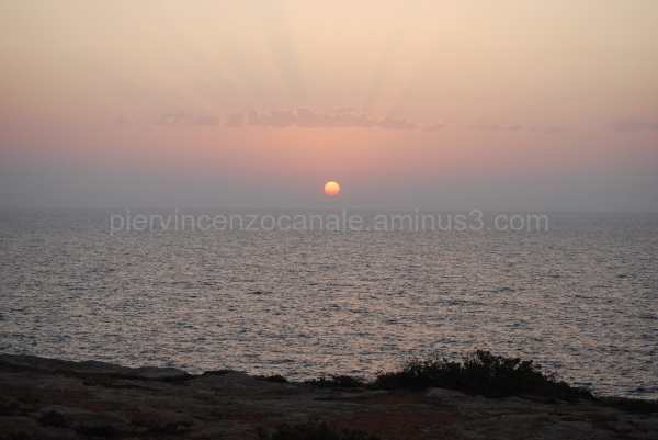 A view of sunrise from Lampedusa, Italy.