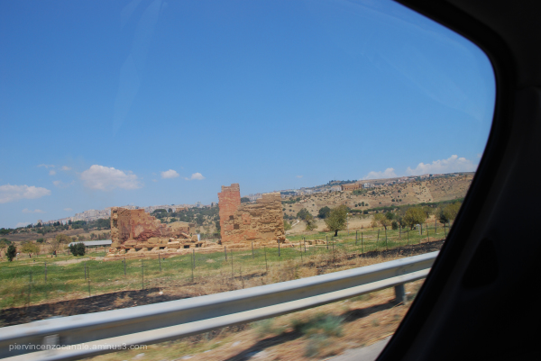 A view of Sicily as seen by the car back in 2009.