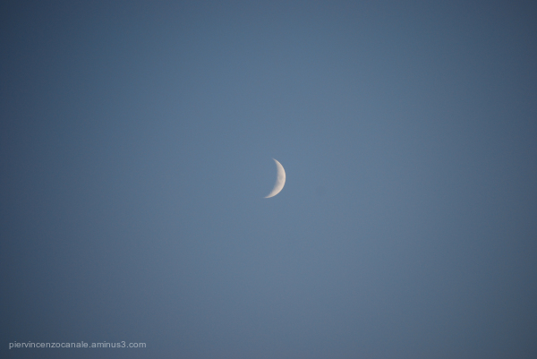 View of moon from Lampedusa, Italy, 2009.