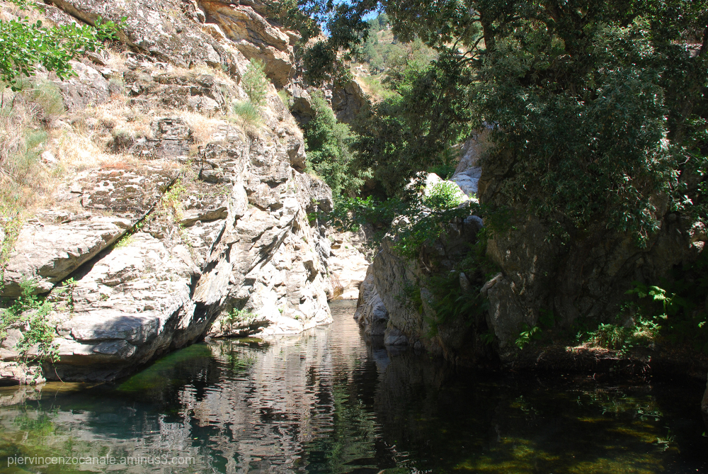 Water and rocks of Aspromonte, Italy.
