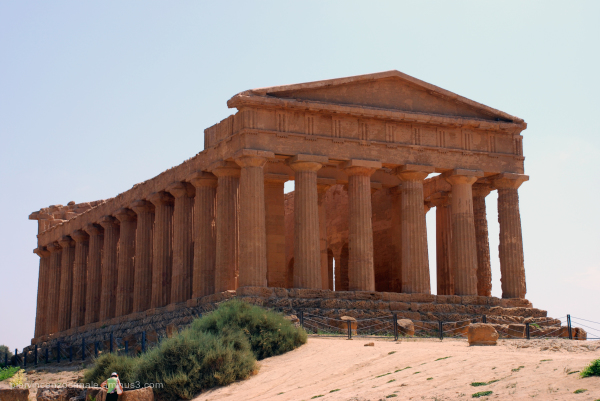 View of a temple in Agrigento, Sicily, Italy 2009