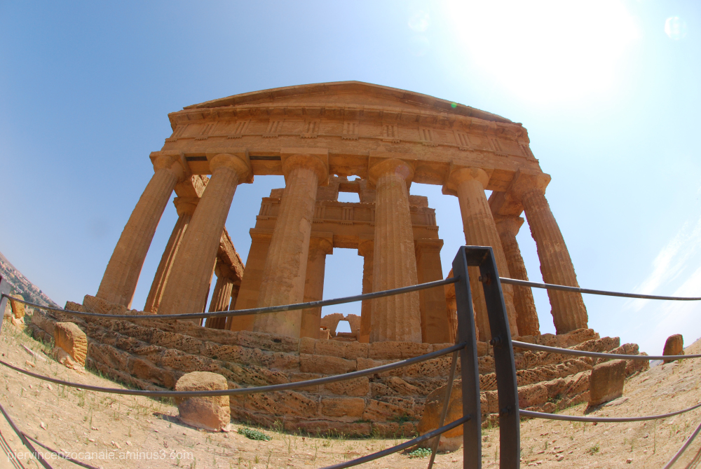 This is Agrigento, Sicily. Not Greece.