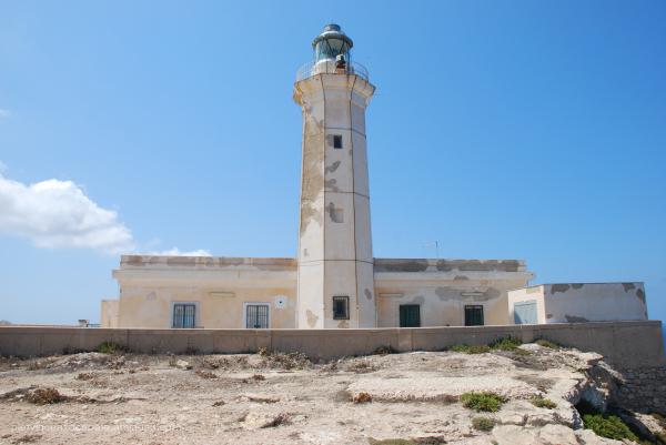 Lighthouse of Lampedusa, Italy.