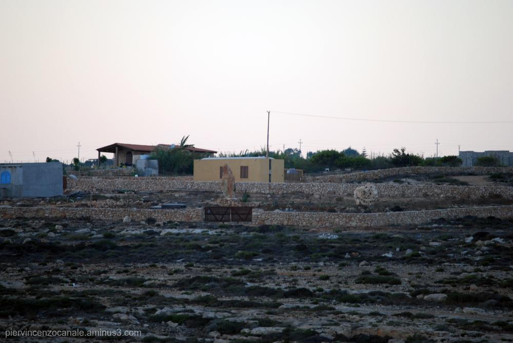 Landscape of Lampedusa, Italy.