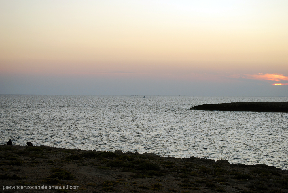 Sunset as seen from Lampedusa, Italy.