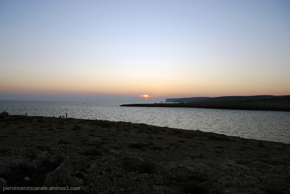 Wide view on a sunset in Lampedusa, summer 2009.