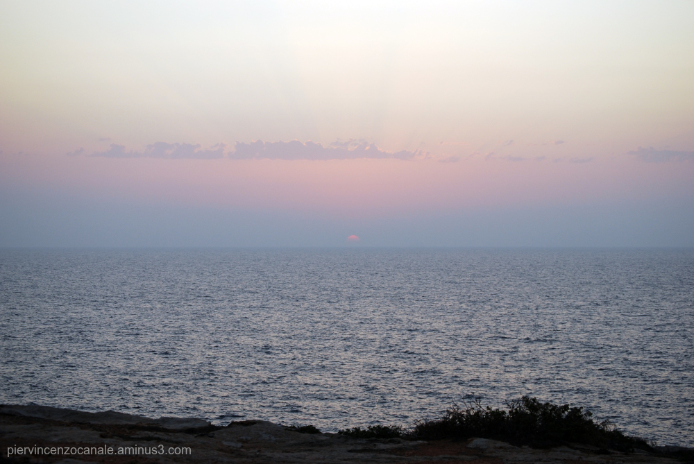 Bye bye sun. Lampedusa, summer 2009.