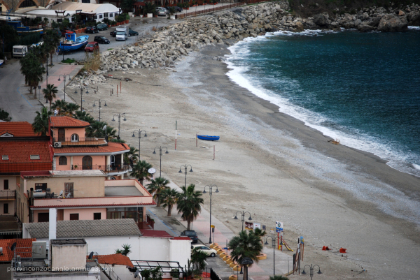 View of the beach of Scilla.