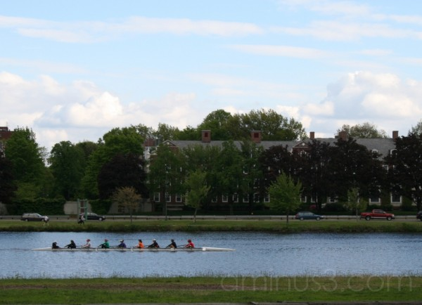 Crew shell on the Charles