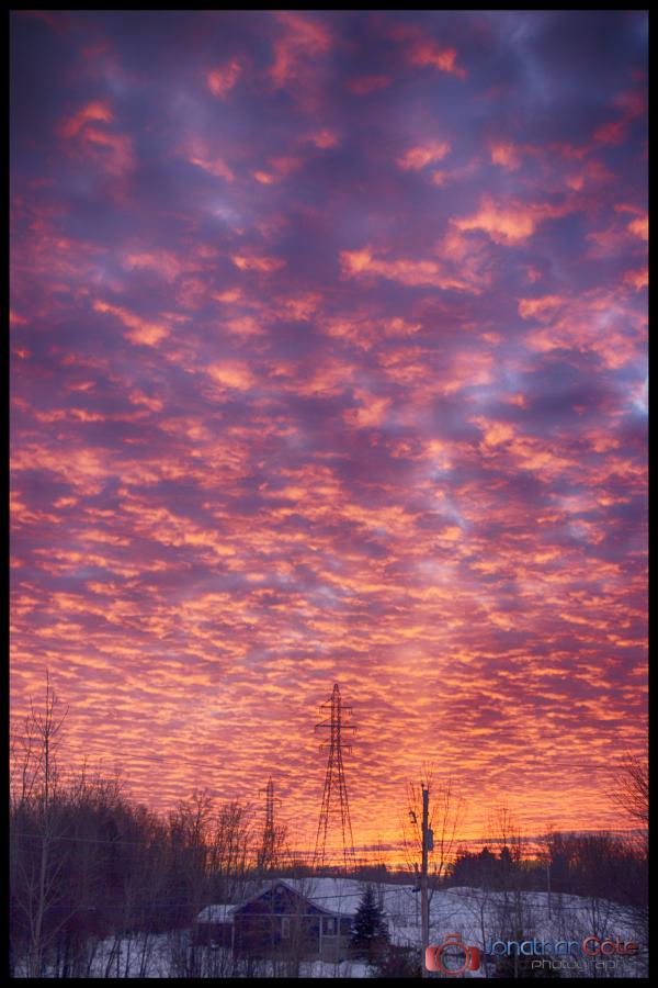 Sunset - Coucher de soleil, à l'improviste