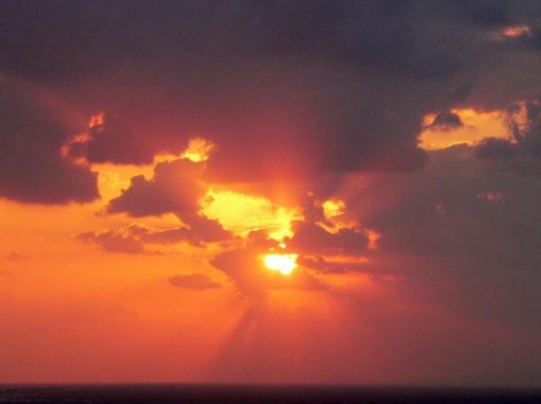 A sunset in Okinawa