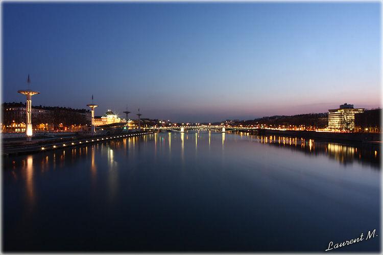 le Rhône à Lyon