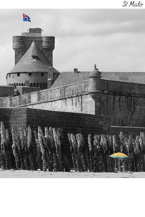The sun umbrella of Saint Malo