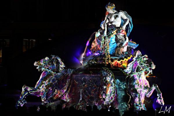 fontaine Bartholdi aux terreaux le 8 décembre