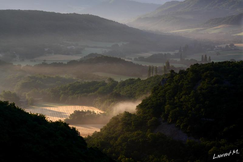 La Vallée du Roubion depuis le chateau de Soyans