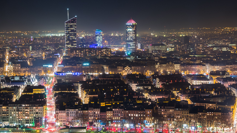 Lyon by night