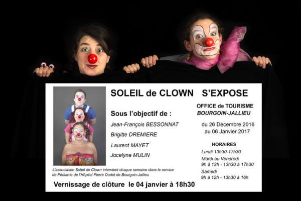 Soleil de clown s'expose à Bourgoin