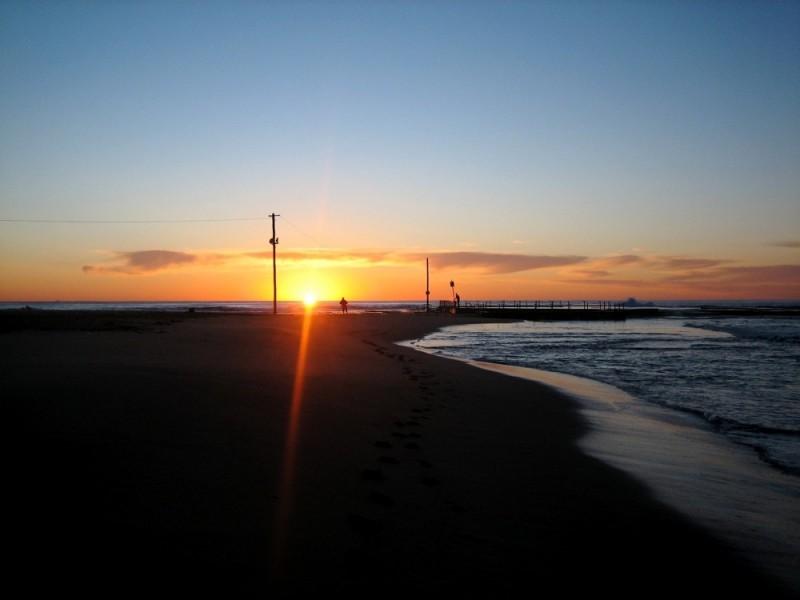 Sunrise on Mona Vale Beach