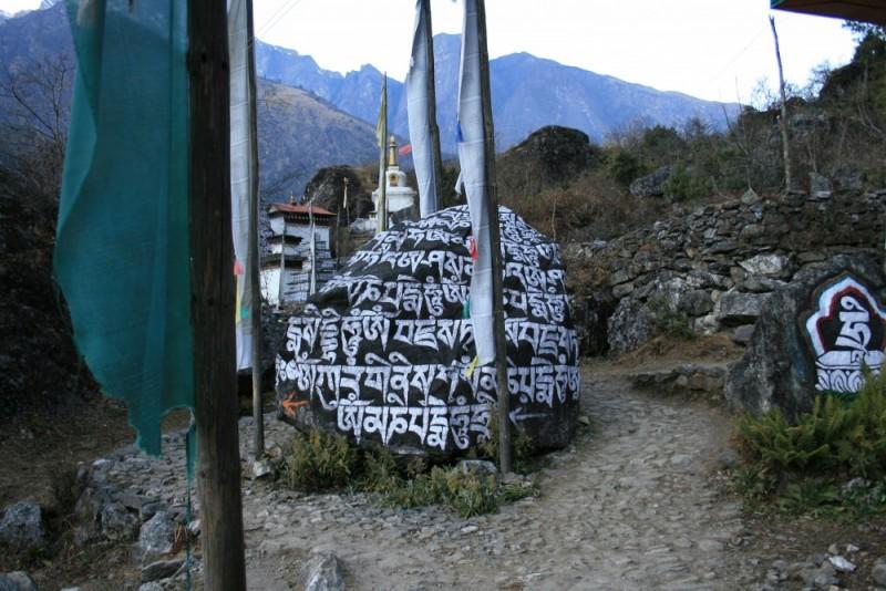 Everest Region: Mani stones