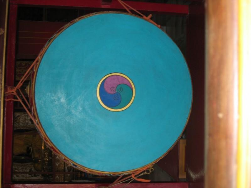 Vibrant temple colours