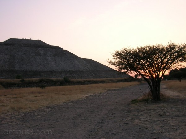Sunset in Teotihuacán