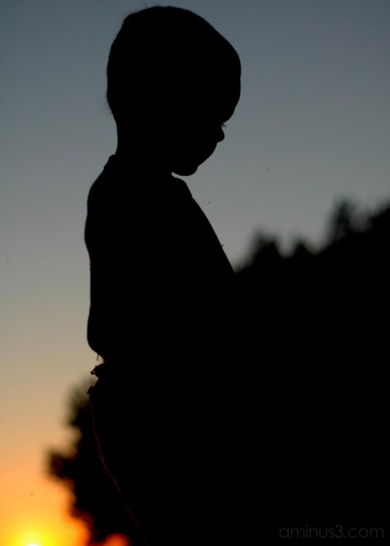 Little Boy in Twilight