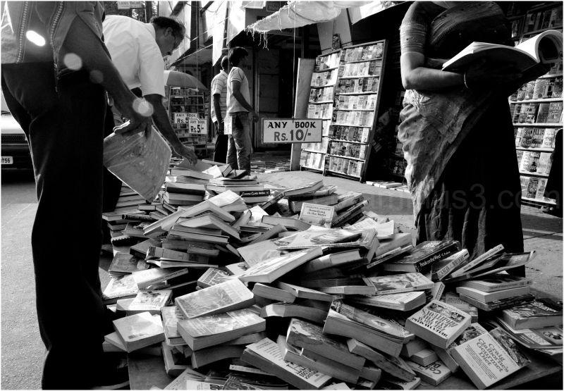 second hand books sale at koti market