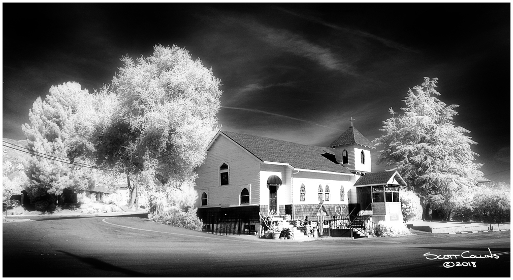 San Antonio Heights Church in Infrared