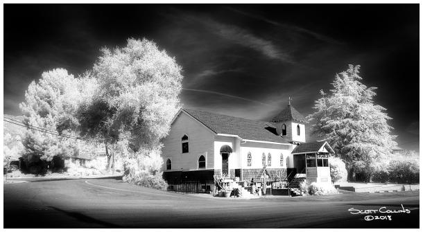 San Antonio Heights Church in Infrared