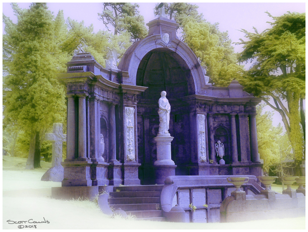 Color Infrared Image of  Holy Cross Cemetery