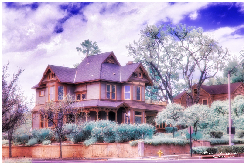 Infrared image of Claremont Home