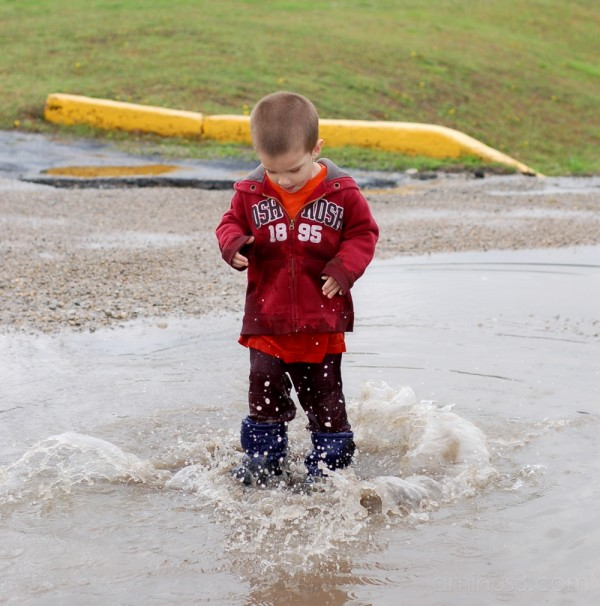 the BIGGEST puddle!