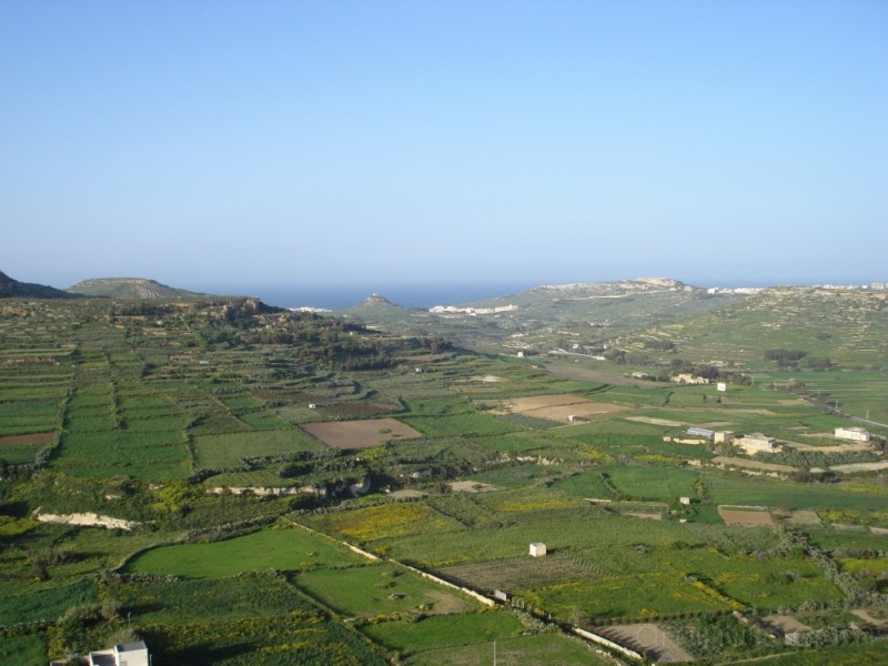 View of Gozo from the citadel in Victoria/Rabat