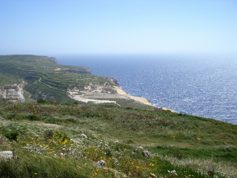 View from the cliffs at Xlendi Bay, Gozo
