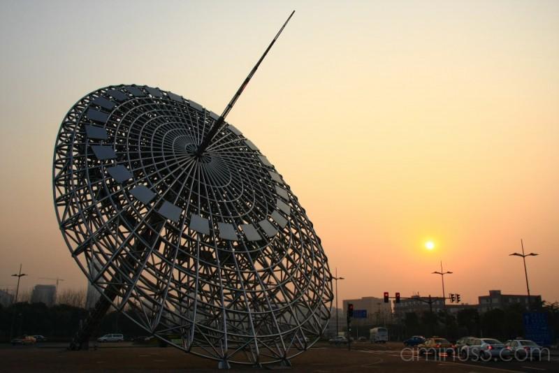 China, Shanghai, PuDong, Sundial