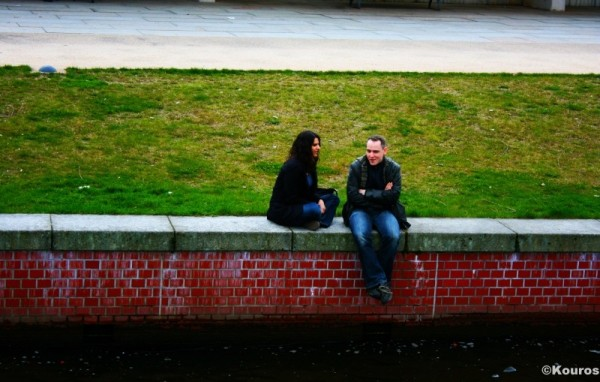 A couple by the river