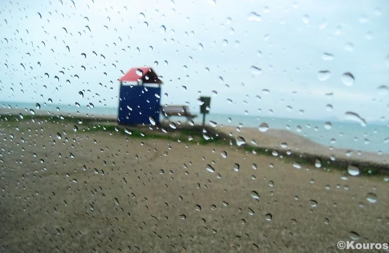 Raining drops