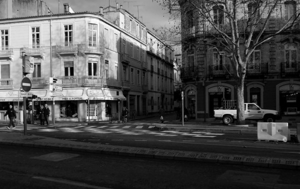Old buildings in Montpellier, France.