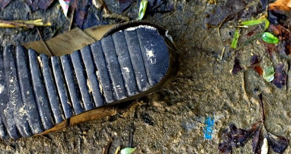 Shoe from a homeless person