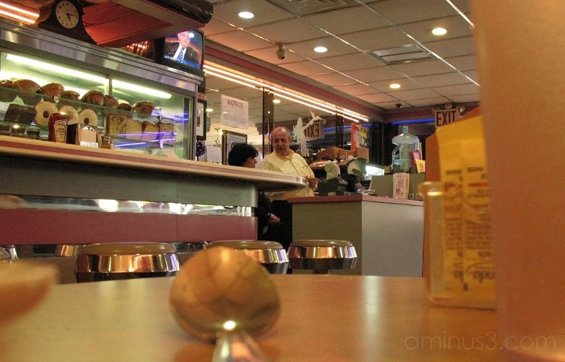 Diner owner and a waitress on Staten Island.