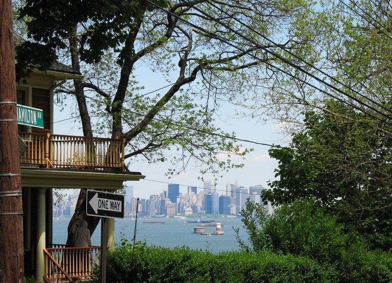 Manhattan seen from St. George in Staten Island.