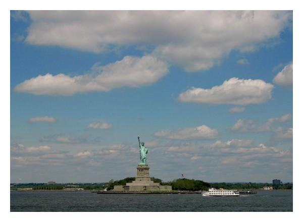 Liberty in New York harbor