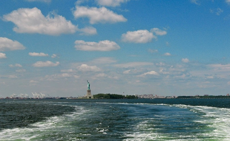 Statue of Liberty in New York harbor.