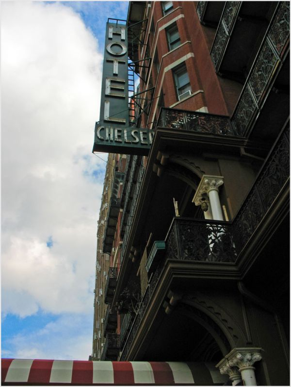 The Chelsea Hotel in New York City.